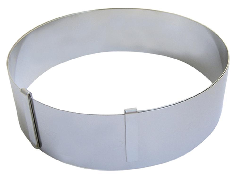 cadre rond extensible inox pour p tisseries tom press. Black Bedroom Furniture Sets. Home Design Ideas