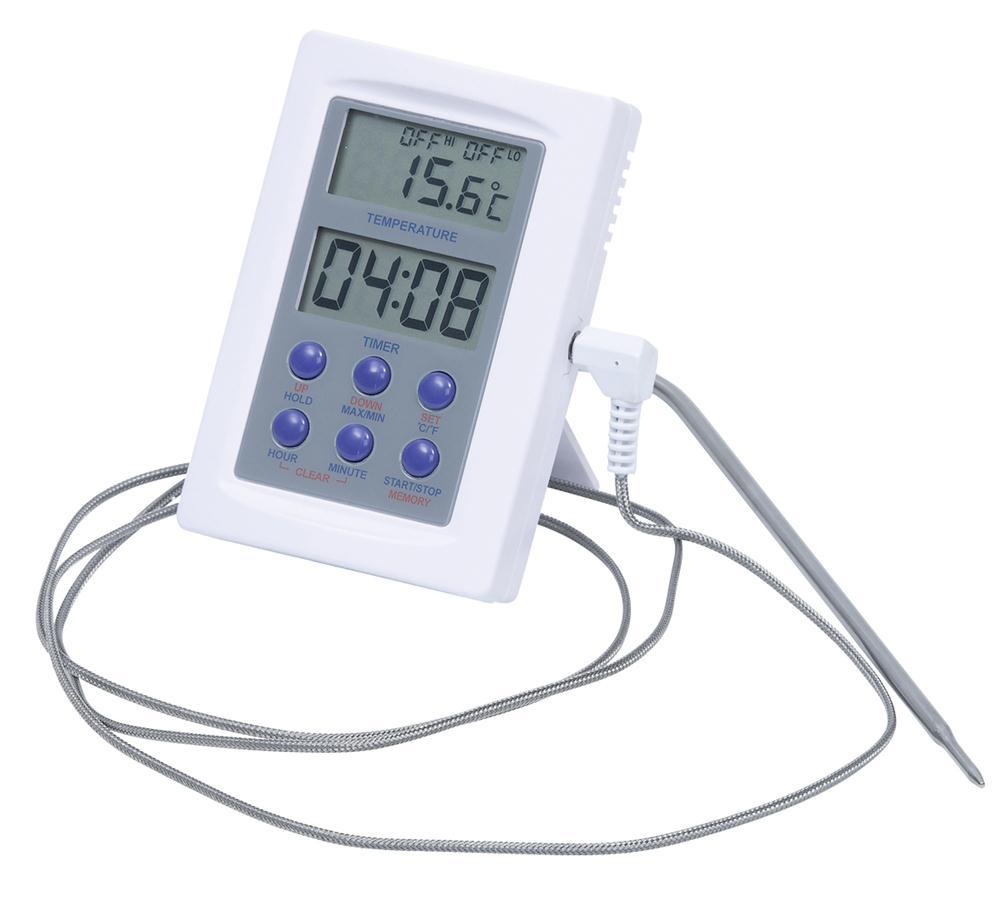 Thermomètre Four À Pain 500 thermomètre pour four avec sonde inox - tom press