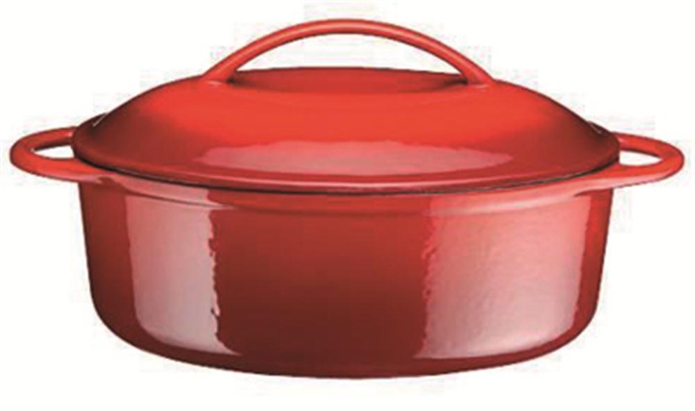 Cocotte en fonte ovale 28 cm 2 litres tom press - Cocotte en fonte emaillee ...