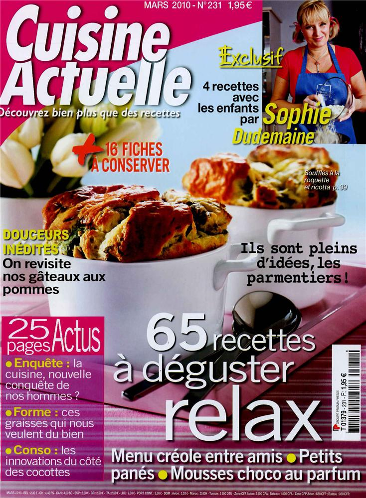 Cuisine actuelle n 231 tom press for Cuisine actuelle