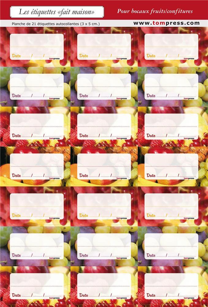 Etiquettes pour conserves de fruits et confitures par 84 for Autoclave pour conserves maison