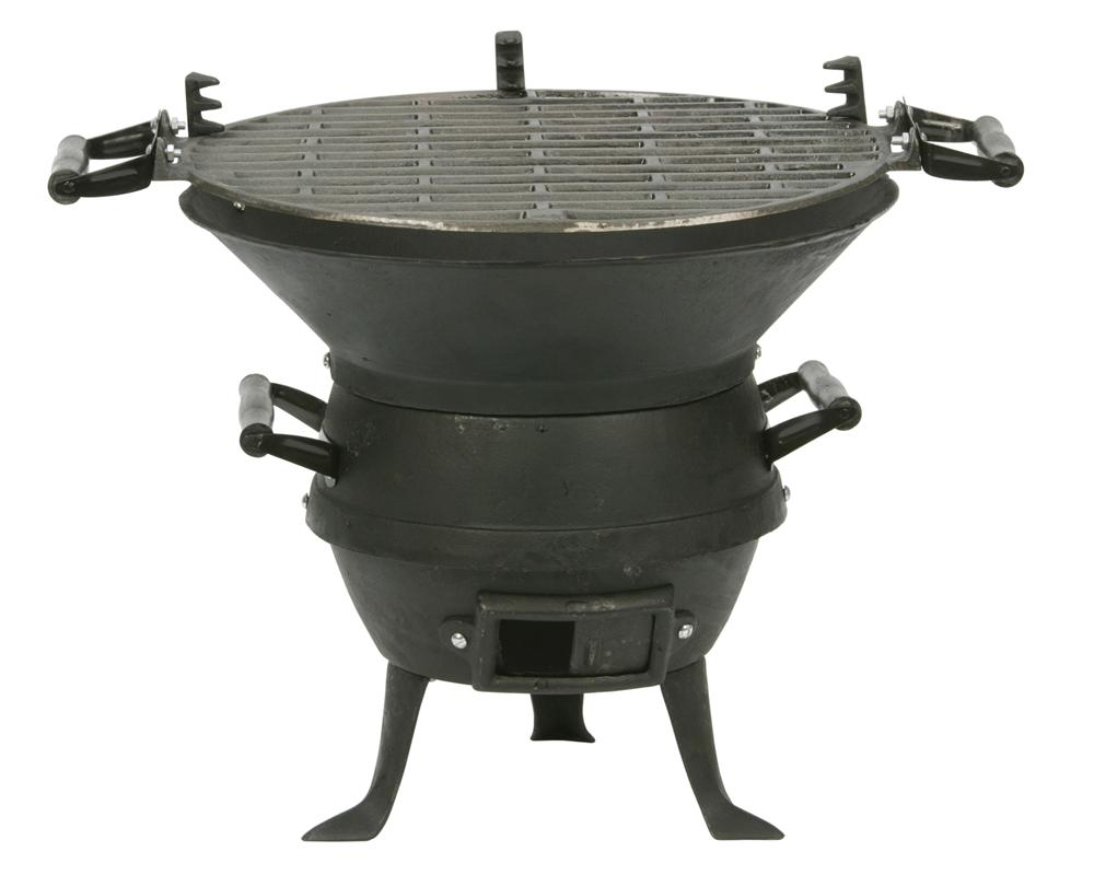 Barbecue bras ro en fonte tom press for Brasero de jardin belgique