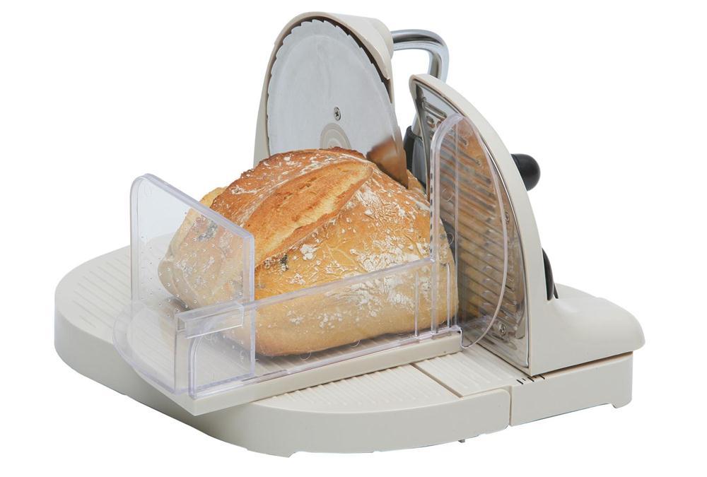 Trancheuse manuelle 1er prix tom press - Machine a couper le jambon manuelle ...
