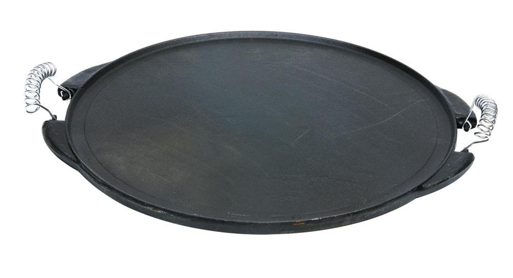 Plancha en fonte maill e r versible ronde 42 cm tom press for Nettoyage d une plancha en fonte emaillee