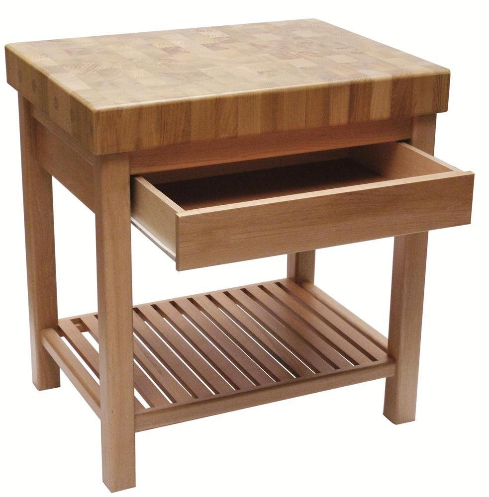 A  table billot de boucher avec tiroiraspx