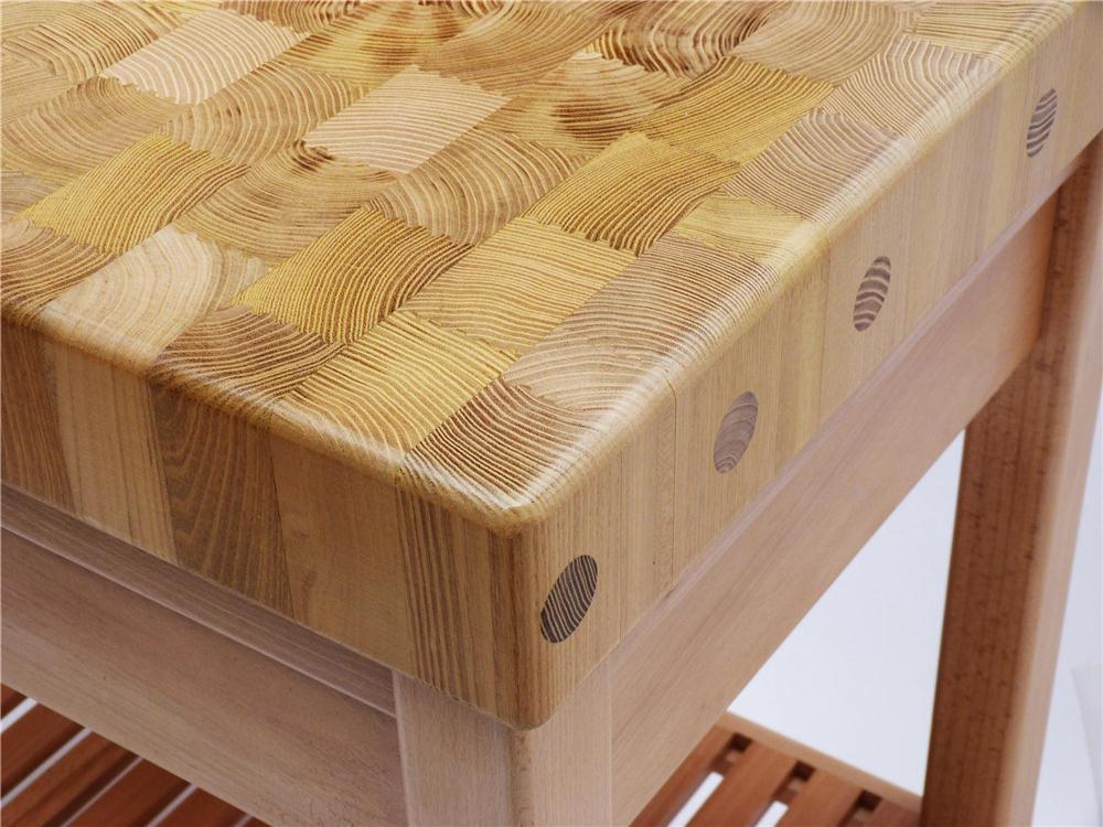 Table billot de boucher avec tiroir
