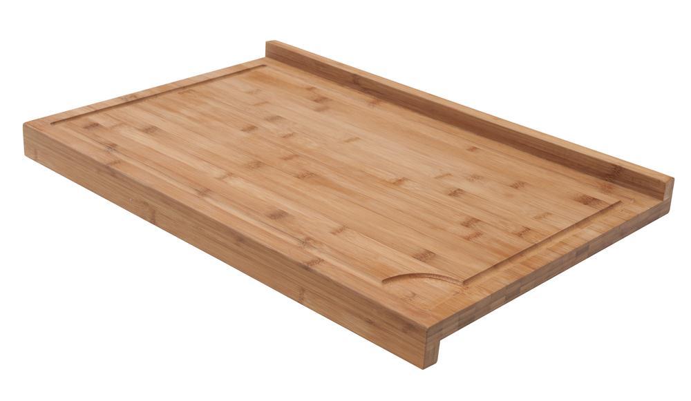 Planche de travail en bambou grand mod le avec rebord for Planche de bois plan de travail