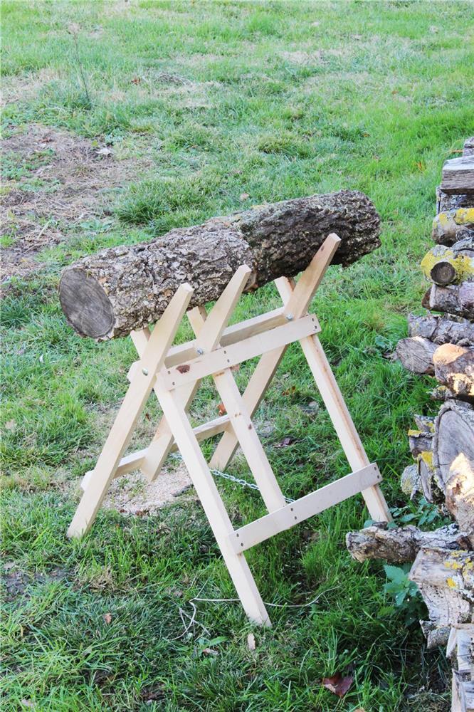 Ch vre de sciage 3 branches tom press - Fabriquer un chevalet pour couper le bois ...