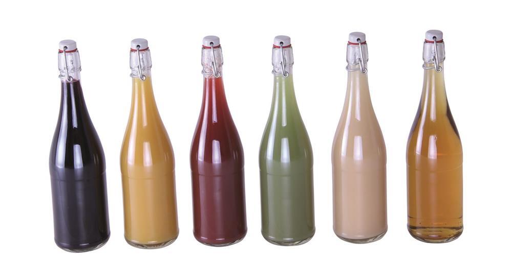 Bouteille de limonade transparente 75 cl avec bouchon m canique par 6 tom press - Bouteille en verre originale ...