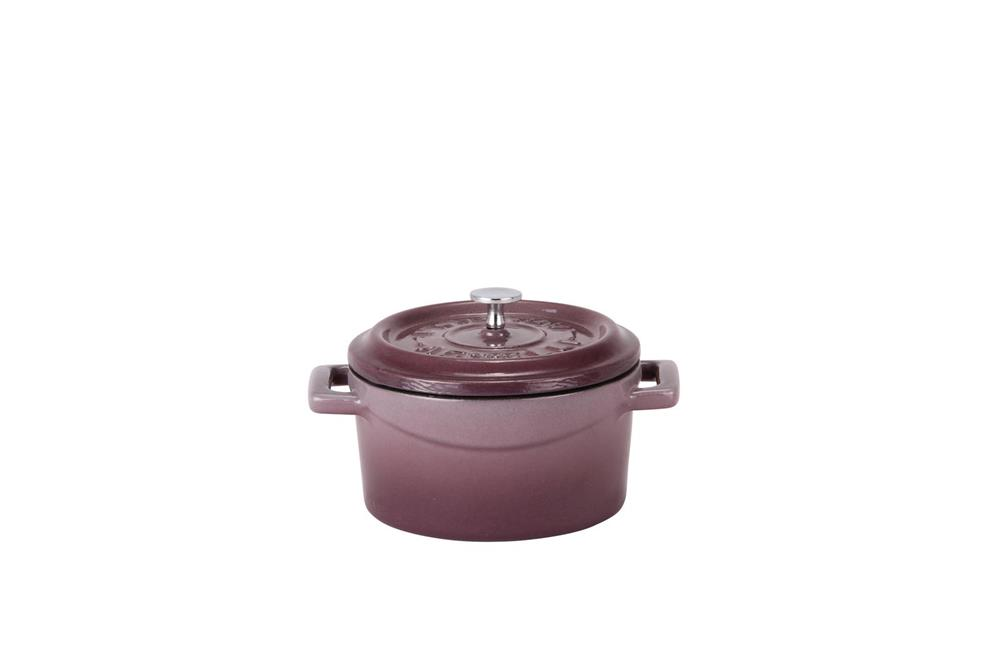 mini cocotte 10 cm aubergine en fonte tom press. Black Bedroom Furniture Sets. Home Design Ideas
