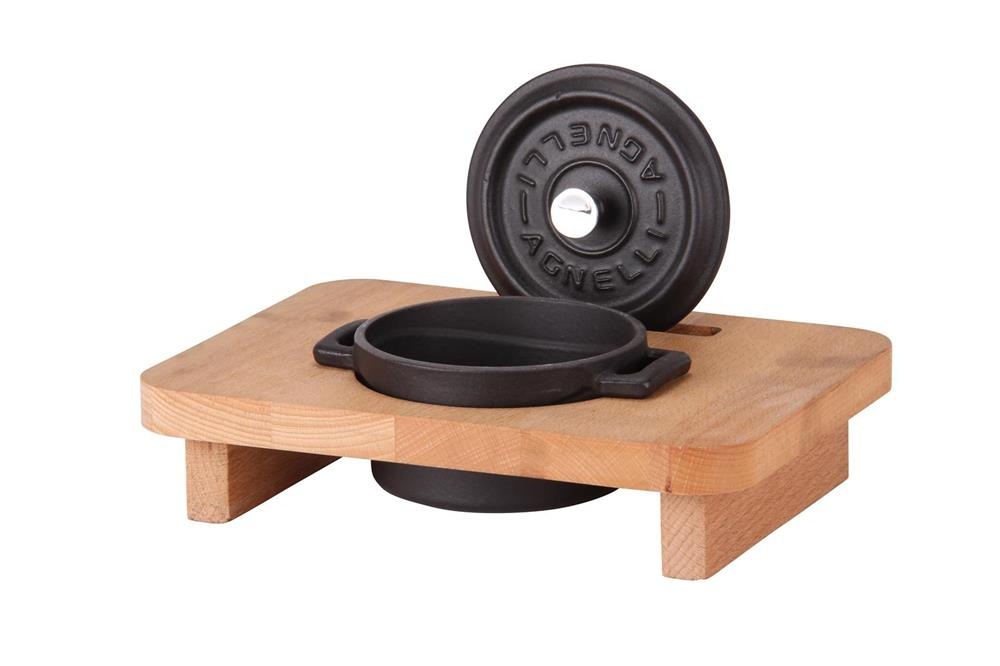 mini cocotte 10 cm noir mat en fonte tom press. Black Bedroom Furniture Sets. Home Design Ideas