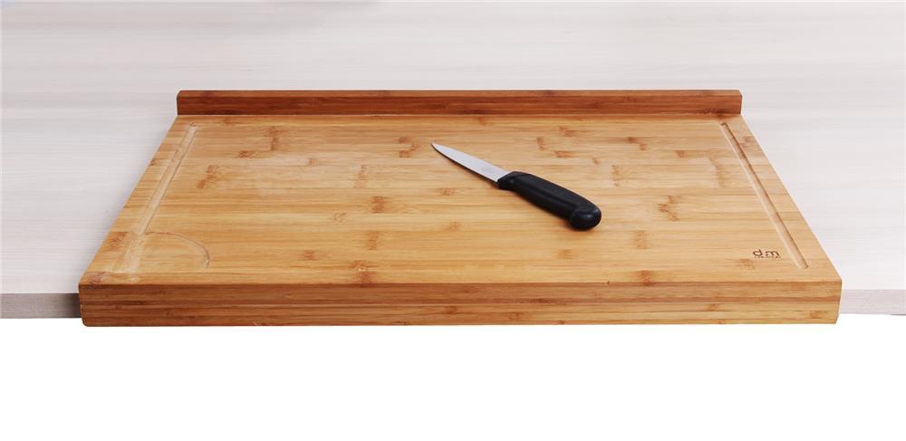 planche de travail en bambou grand mod le avec rebord tom press. Black Bedroom Furniture Sets. Home Design Ideas