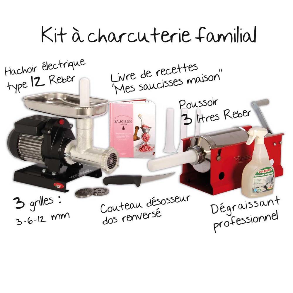 Kit mat riel charcuterie familiale tom press for Kit per palafitte