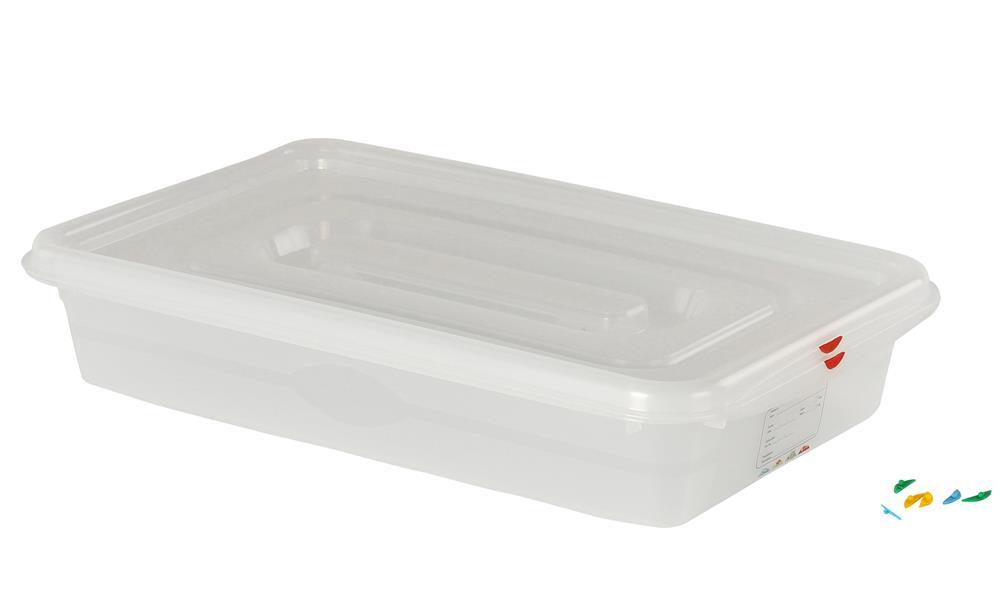 bac plastique tanche gn 1 1 13 l h 10 cm tom press. Black Bedroom Furniture Sets. Home Design Ideas