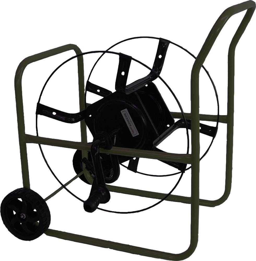 Deboucher Canalisation Avec Tuyau Arrosage dévidoir enrouleur pour 70 m de tuyau d´arrosage modèle pro stable renforcé  double poignée - tom press