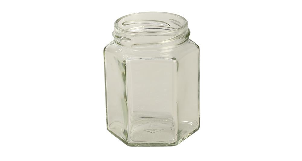 Pot en verre hexagonal 195 ml par 12 tom press - Ikea pot en verre ...