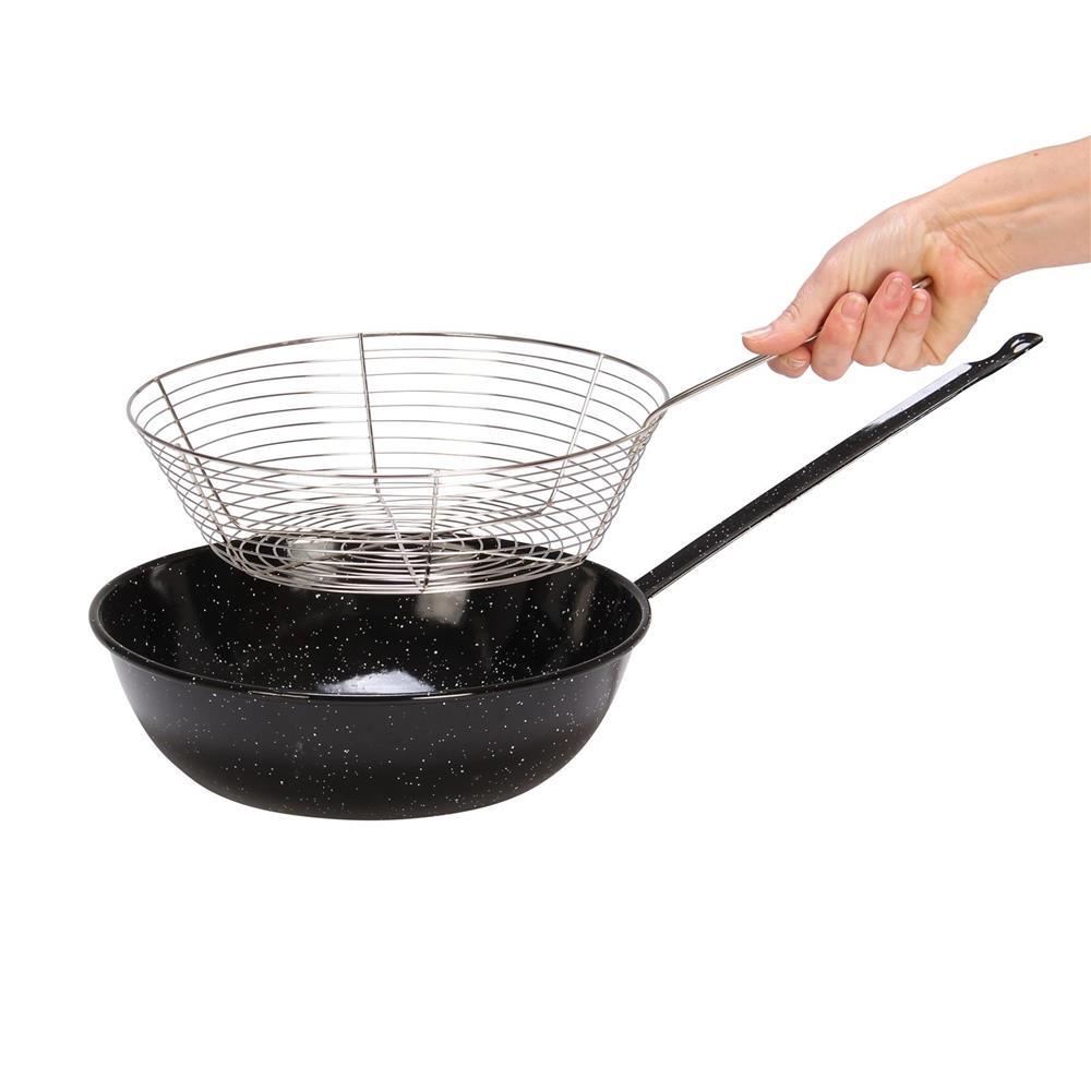Po le friture 28 cm avec panier tom press - Friteuse a l ancienne ...
