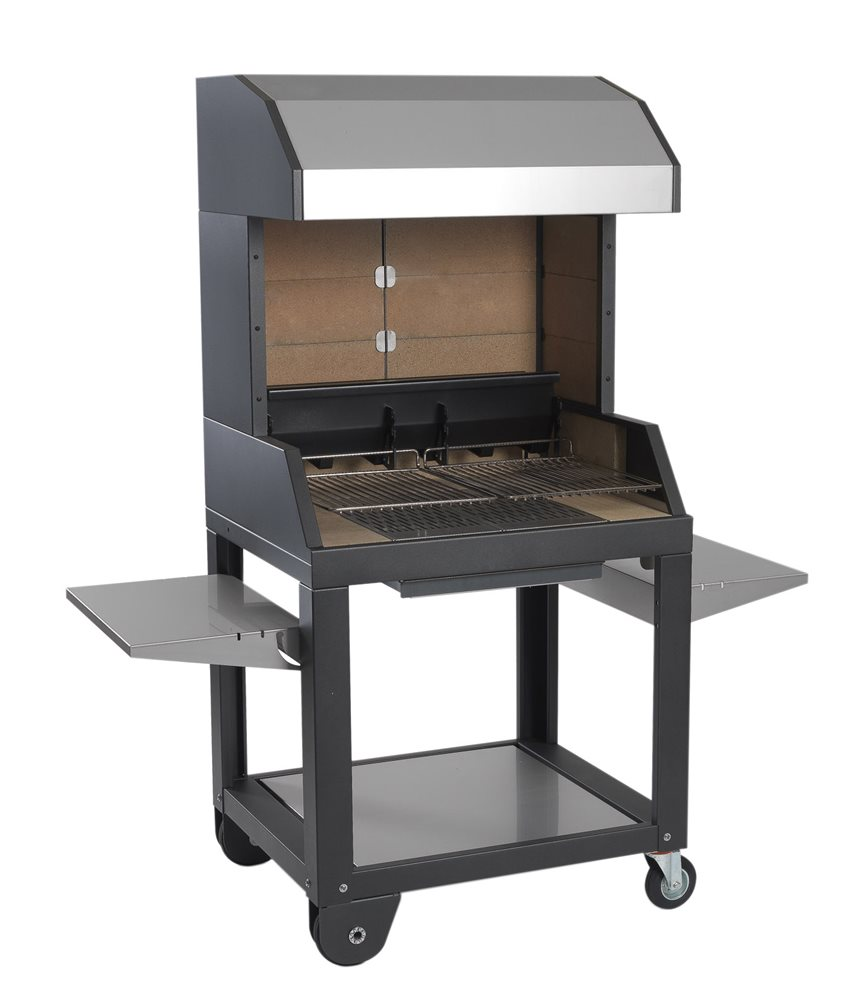 Barbecue à bois 94 cm avec hotte  Tom Press ~ Barbecue A Bois