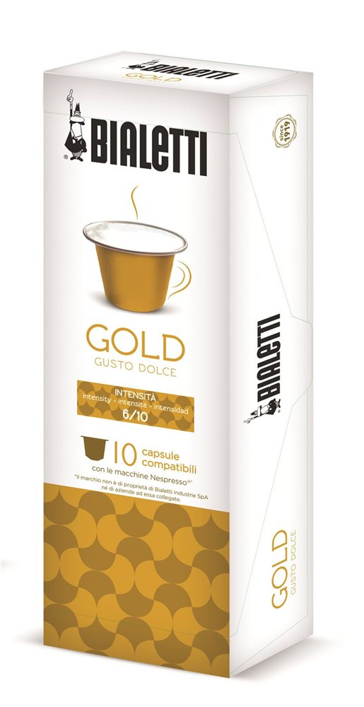 bo te de 10 capsules de caf bialetti gold compatibles nespresso tom press. Black Bedroom Furniture Sets. Home Design Ideas