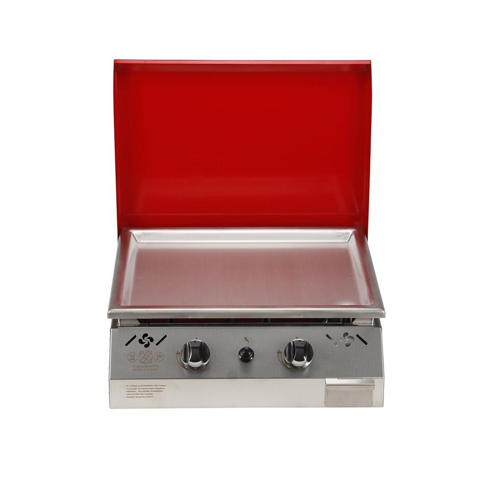 Comment Récupérer Une Plancha Rouillée plancha gaz 6 kw plaque inox 55x45 habillage inox anti-trace capot rouge -  tom press
