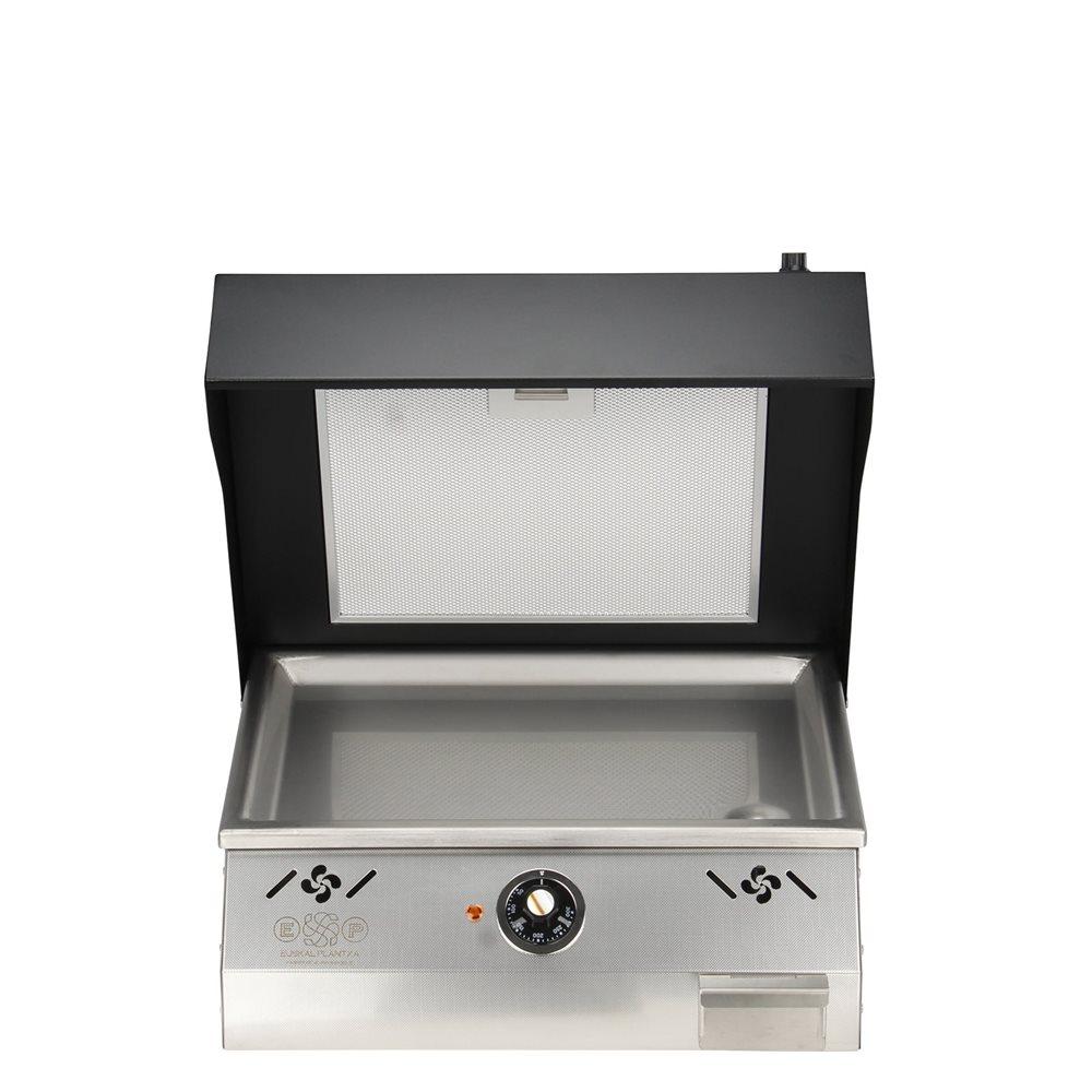 Comment Récupérer Une Plancha Rouillée plancha électrique avec hotte intégrée plaque inox 45x31 - tom press