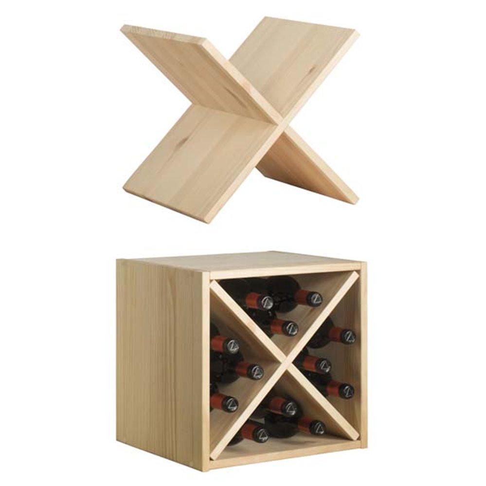 Fabriquer Casier À Bouteilles En Bois casier en bois pin massif avec croisillon pour 12 bouteilles de vin - tom  press