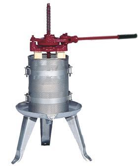 Pressoir à cliquet 90 litres inox